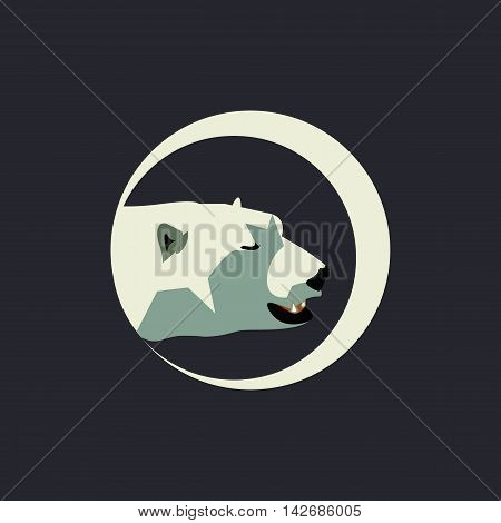 Polar bear head logo template vector illustration