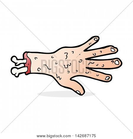 gross severed hand cartoon