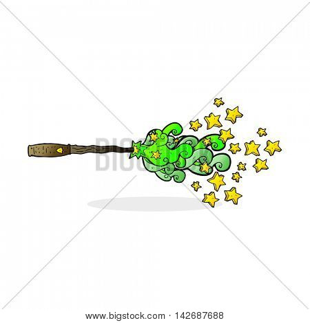cartoon magic wand casting spell