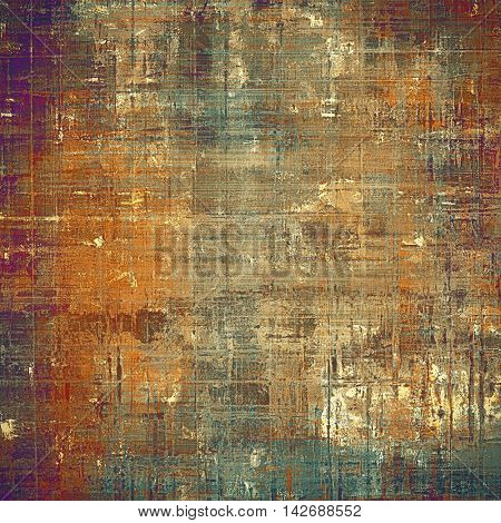 Grunge background for a creative vintage style poster. With different color patterns: yellow (beige); brown; gray; red (orange); purple (violet); cyan