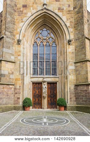 Entrance Of The St. Clemens Church In Telgte