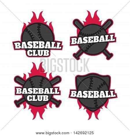 Baseball professional logo. Baseball badges set sports template with ball eps10