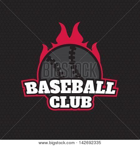 Baseball championship logo. Baseball Label Templates eps10