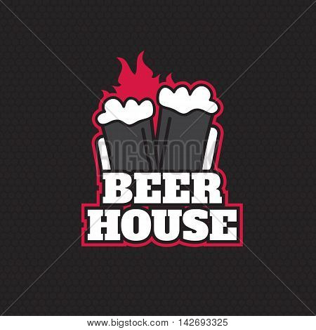 Brew House Vintage Logotype For Beer House Brewing Company
