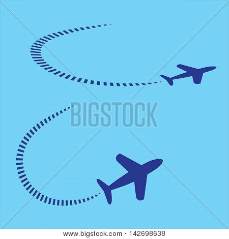 Graphic of Two different paths of different aeroplane.