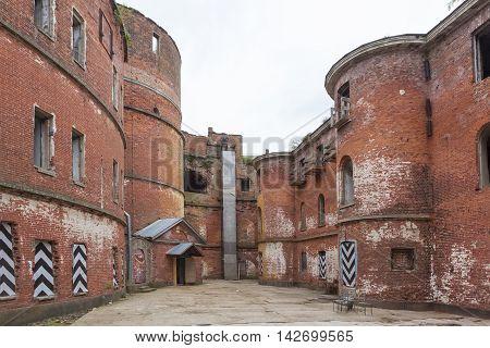 Fort Emperor Alexander (Plague). Courtyard. Kronstadt. Russia.