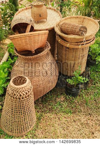Basketry from handicraft works, Countries in southeast asia are famed for their handicraft works from basketry.