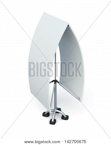 Bilateral Advertising Stand Isolated On A White Background. 3D Illustration