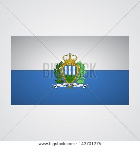 San Marino flag on a gray background. Vector illustration