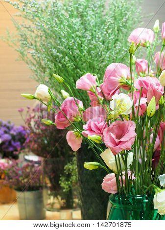 Flowers Arranged In A Flower Shop - Portrait View