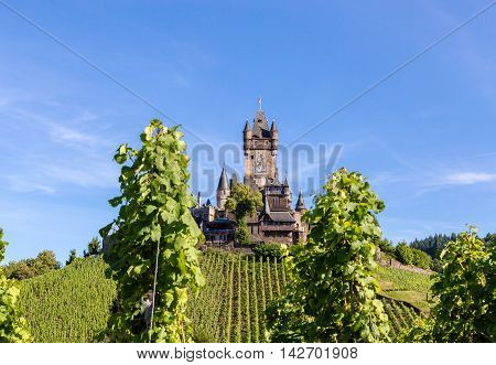 Reichsburg Castle In Cochem On The Mosel
