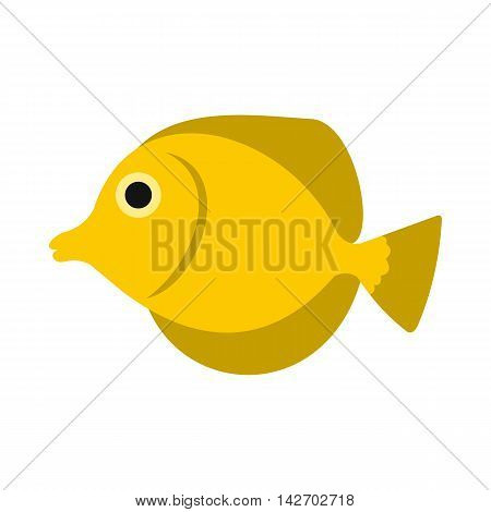 Fish butterfly icon in flat style isolated on white background. Sea creatures symbol