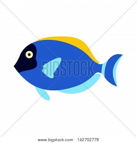 Surgeon fish icon in flat style isolated on white background. Sea creatures symbol