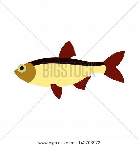 Salmon icon in flat style isolated on white background. Sea creatures symbol