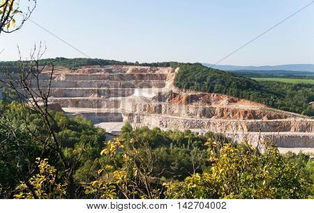 View of calcite quarry in Bohemian karst Czech republic
