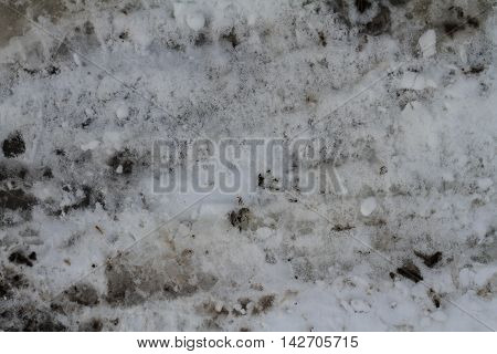snow bank grunge texture with black spots