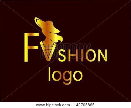 the illustration - beautiful logo - on the theme of fashion .