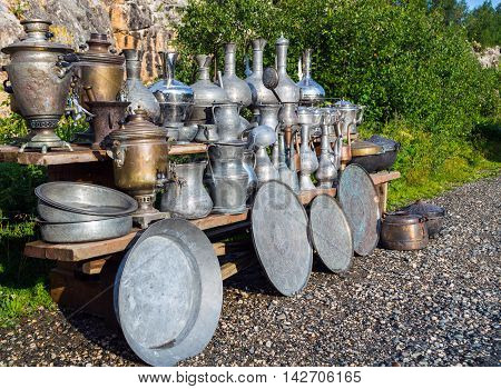 Vintage Metallic Arabian Vessels And Pods