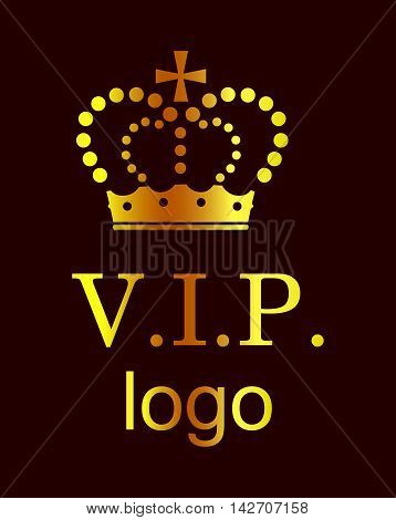 the beautiful and luxurious logo with royal crown.