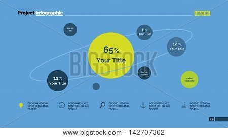Model of Universe metaphor diagram. Element of presentation, graphic, diagram. Concept for business template, infographics, report. Can be used for topics like analytics, marketing, science, education