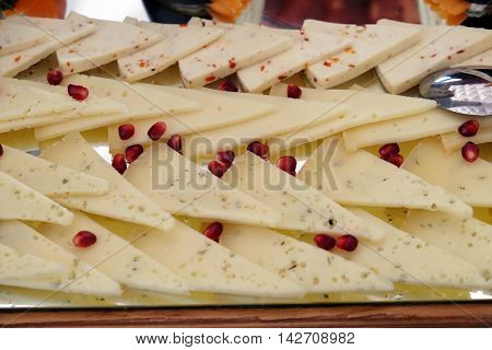 Classic Croatian starter plate with fine Croatian cheese