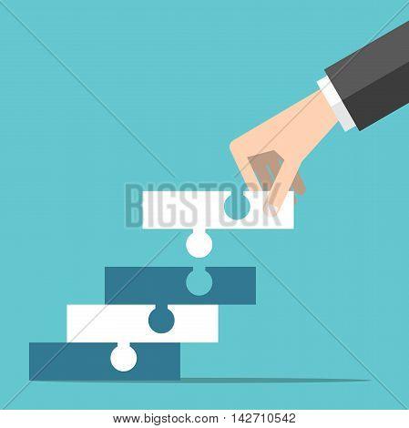 Hand Building Puzzle Steps