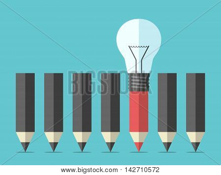 Unique Pencil With Lightbulb