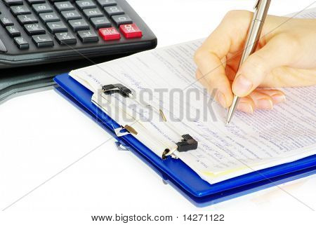 hands holding pen over paper ready to write