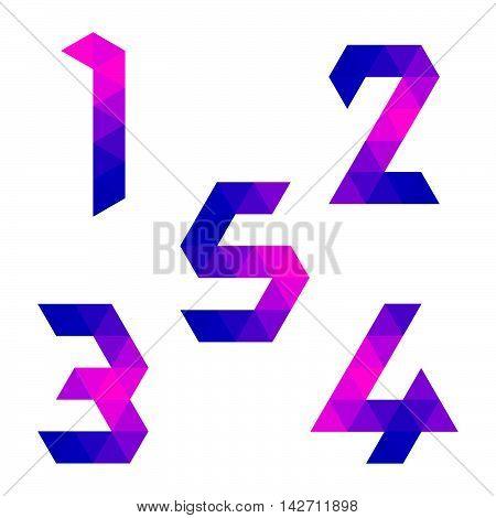 Series Of Geometric Numbers 1, 2, 3, 4, 5
