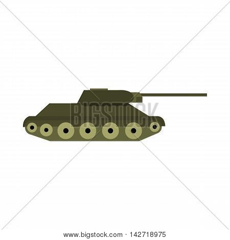 Tank icon in flat style on a white background