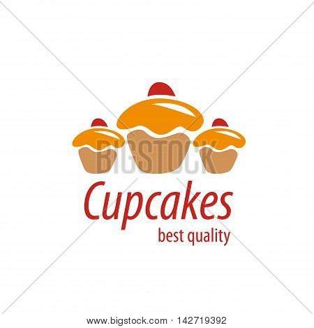 logo design template cupcake. Vector illustration of icon