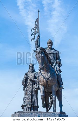 Founders of City Monument in Vladimir Russia