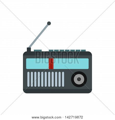 Radio receiver icon in flat style on a white background