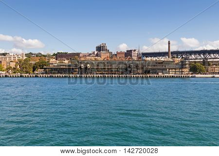 SYDNEY, AUSTRALIA - APRIL, 2016 : View of Overseas Passenger Terminal, also called Sydney Cove Passenger Terminal, located in Circular Quay, Sydney, Australia on April 20, 2016.