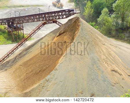 Pile of stone in Stone Pit - heavy industry