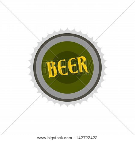 Label for beer icon in flat style isolated on white background