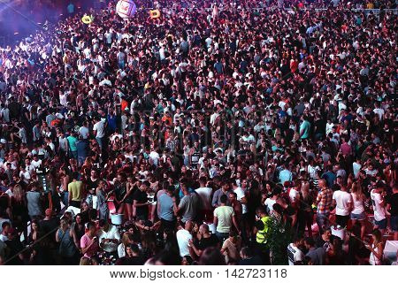 Overcrowded Live Concert. Audience At Concert