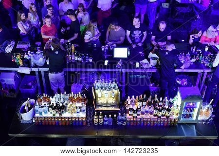Bar Full With Alcoholic Drinks And Cocktails
