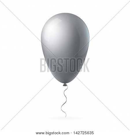 Abstract creative concept vector flight balloon with ribbon. For Web and Mobile Applications isolated on background, art illustration template design, business infographic and social media icon.