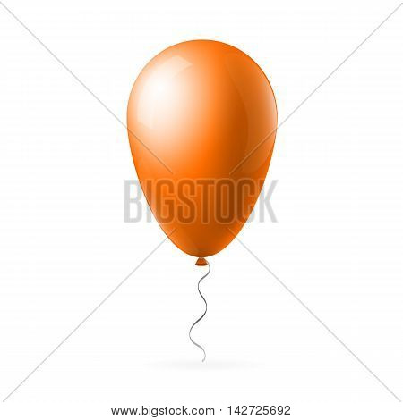 Abstract creative concept vector orange flight balloon with ribbon. For Web and Mobile Applications isolated on background, art illustration template design, business infographic and social media icon.