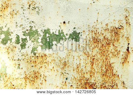 a one Background of old rusty metal