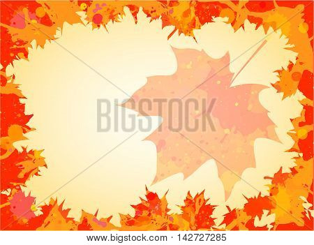 Watercolor Maple Leaves Frame