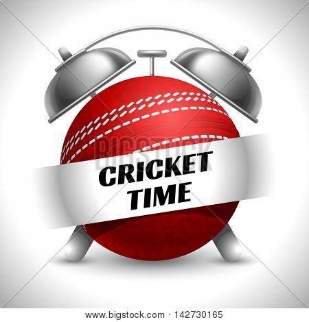 Concept on Sport Cricket Theme. Time to Play Sports. Time to Watch Cricket Tournament. Time To Play Cricket. Vector Illustration. Isolated On White background.