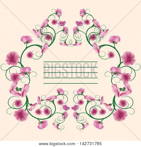Beautifully and decorated card. Illustration, Image