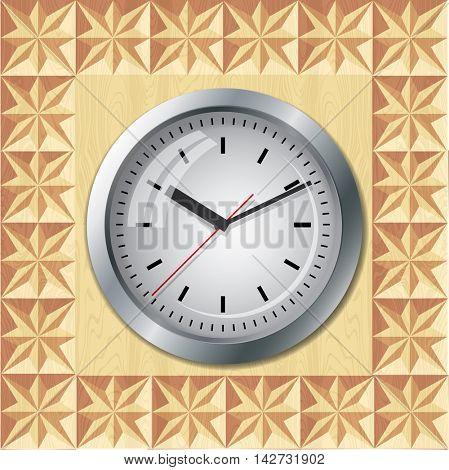Clock located on threaded plate geometry.