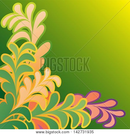 Background made up of flowers and plants.