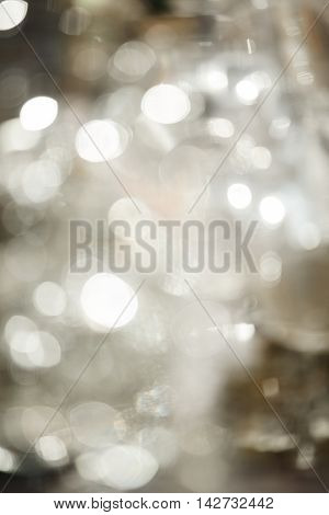 Defocused Abstract Festive Background With Bokeh Defocused Lights And Shadow.
