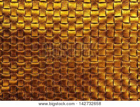 gold bronze braided leather diamond texture background