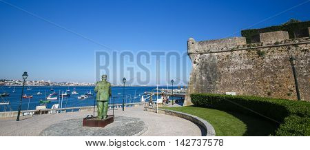 Statue Of Dom Carlos I In Cascais, Portugal