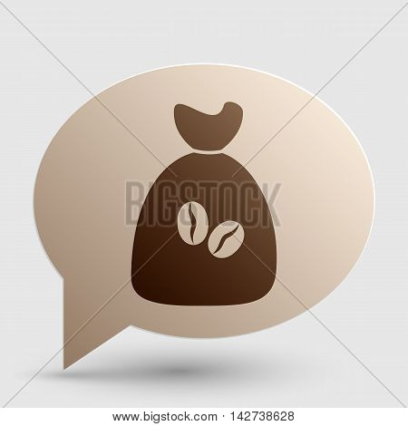 Coffee bag Icon. Coffee bag Vector. Coffee bag Icon Button. Brown gradient icon on bubble with shadow.